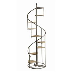Crestview Darby Spiral Staircase Metal And Wood Display Pieces CVFZR1721