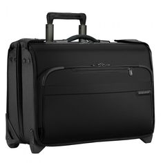 This carry-on wheeled garment bag conveniently carries your hanging garments in a protected structured case while still avoiding checked baggage fees. The durable ballistic nylon outer fabric withstands the toughest travel conditions. Briggs And Riley, Cabin Bag, Garment Bags, Zipper Pulls, Online Bags, Baggage, Carry On, Suitcase