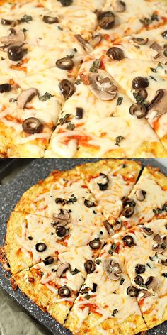 Everything you need to know to make the best Cauliflower Pizza Crust, a low carb pizza crust that works out to only net carbs per slice cauliflowerrecipe lowcarb 743305113479860787 Healthy Pizza Recipes, Low Carb Recipes, Cooking Recipes, Skillet Recipes, Cooking Gadgets, Sweets Recipes, Lunch Recipes, Best Cauliflower Pizza Crust, Cauliflower Recipes