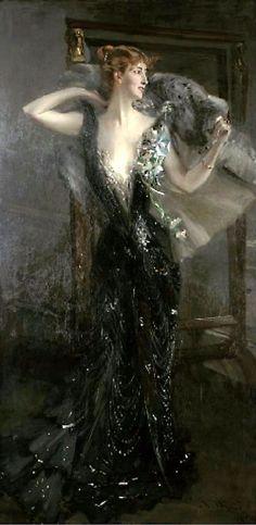 La Contessa Speranza Painting by Giovanni Boldini | Oil Painting