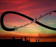 Forever and always. Infinity sign. Beach. Sunset. FOLLOW~DarianND ѕυммєя
