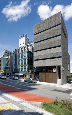 은행나무 출판사 사옥 – 건축명장 Facade Design, Architecture Design, House Design, Building Systems, Building Facade, Brick Masonry, Stone Facade, Best Build, Brick And Stone
