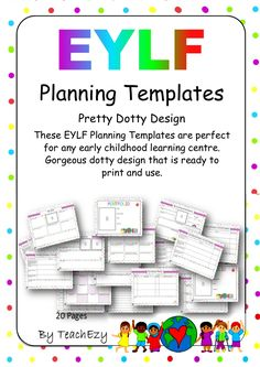These EYLF Planning Templates are perfect for any early childhood learning centre. Gorgeous dotty design that is ready to print and use. Eylf Learning Outcomes, Learning Stories, Learning Centers, Early Learning, Early Education, Early Childhood Education, Early Years Framework, Preschool Set Up, Reggio