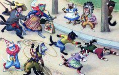 Alfred Mainzer Cats Halloween
