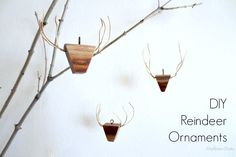 Diy Wooden Reindeer Holiday Ornaments