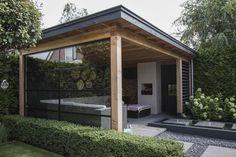 Pergola Ideas For Patio Garden Room, Outdoor Kitchen Design, Patio Design, Pergola Designs, Garden Buildings, Pool Houses, Modern Garden, Outdoor Kitchen