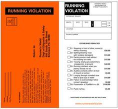 running violation