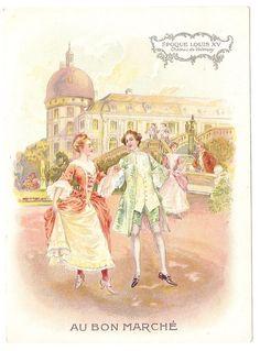 Epoque Louix XV  - - Chateau de Valençay - Chromo Au Bon Marché - Trade Card
