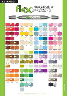 Touch Marker Color Charts  Colour Chart Markers And Chart