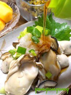 牡蠣のぽん酢和えです。手間は下処理だけw。簡単・時短でパッと作れる、Rの季節のご馳走デス☆