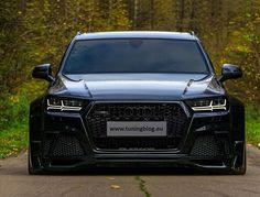 Dieser Audi SQ7 4M MJ 2017 bekam ein extremes Widebody-Kit, eine Tieferlegung und schwarze Scheinwerfer + TTRS Kühlergrill