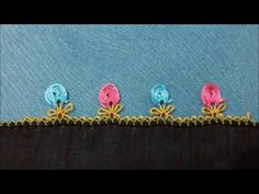 İğne Oyası Havlu Kenarı Çiçek Bahçesi Örneği Full HD - YouTube