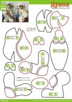 Bears Plushie Patterns, Softie Pattern, Doll Patterns, Fun Patterns, Teddy Bear Patterns Free, Teddy Bear Sewing Pattern, Stuffed Animal Patterns, Diy Stuffed Animals, Elephant Crafts