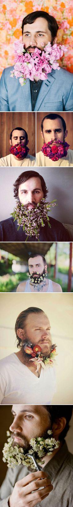 Men with flower beards