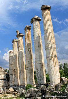 Ancient temple ruins at Aphrodisias near Denizli, Turkey.