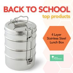 Back to School is upon us! We are diggin' Clean Planteware's 4 layer lunch box. Hurry and grab yours before they sell out!