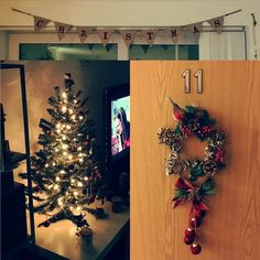So last years temp @clasohlsonuk #christmastree tree has saved the day! What a cutie! #added some @sainsburys Robins and baubles! Got a cute  #star #wreath from @tkmaxx / @homesense_ukie And a cute little banner and matching @homebargains stockings (yet to be filled). #christmas has arrived in the flat. Phewww  didnt think It was going to make it. Deffo on the good boy list now surely!? #xmas #christmasdecor #happy #instagood #home #festive