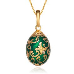 Sterling Silver Russia Faberge Egg pendant Charm