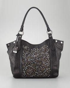 V1ACR Frye Deborah Studded Tote Bag