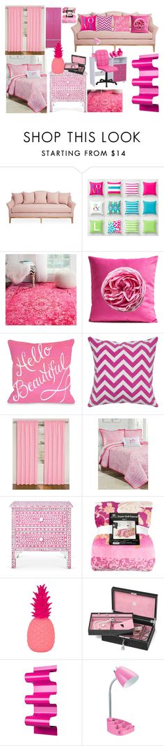 """""""Pink Room Decor"""" by teenwolfmoosic ❤ liked on Polyvore featuring interior, interiors, interior design, home, home decor, interior decorating, nuLOOM, Eclipse, Southern Tide and Goodnight Light"""