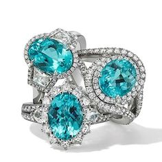 Hans D. Krieger is one of the few high jewellery houses still producing new designs set with impressive Brazilian Paraiba tourmalines.