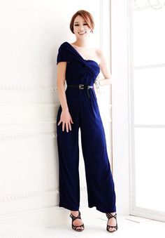Elegant One Shoulder Ruched Jumpsuits Designer Jumpsuits, Fashion Outfits, Womens Fashion, Fashion Clothes, Playsuits, One Shoulder, Street Style, Style Inspiration, Sexy