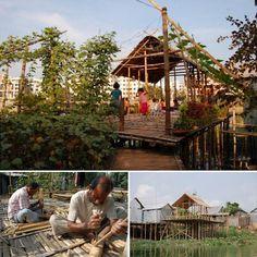 ไม่มีเงิน ไม่มีที่ดิน ก็บ่ยั่น! ชาวบังคลาเทศสร้างลานชุมชนกลางน้ำได้สำเร็จ