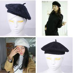 Sexy Perfect Colorful Soft & Warm Rabbit Fur Lady Women Winter Beret Hat Beanie