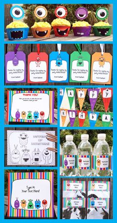 Type your own text into this HUGEMonster Birthday Party Decorations & Invitation package. INSTANTLY DOWNLOAD this digital PDF file that you personalize at home. Edit and print each page as many times as you like. You edit ALL of the text in this pack by yourself at home - just open the