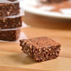 Super healthy brownies that take 5 minutes to throw together and are so guilt free that we eat them as a grab-and-go breakfast!