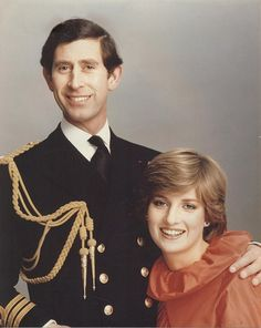 Official Engagement photo of Prince Charles & Lady Diana Spencer.