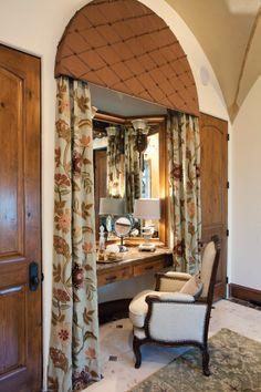Dressing table in master bathroom
