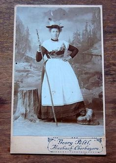 Antique Photo Miesbach-Oberbayern Bavaria Native Dress #Miesbach