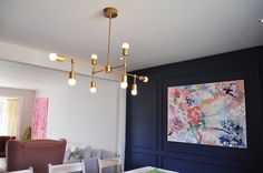 DIY Brass Chandelier Round Bulbs - Beautifully detailed DIY tutorial, parts list and sources!