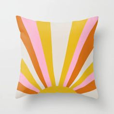 sunshine state of mind Throw Pillow by sunshinecanteen - Cover x with pillow insert - Indoor Pillow Throw Cushions, Couch Pillows, Outdoor Throw Pillows, Designer Throw Pillows, Down Pillows, Accent Pillows, Pillow Crafts, Guest Room Office, Fluffy Pillows