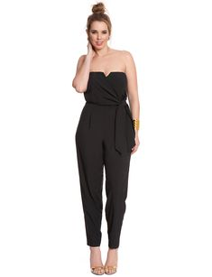 Studio Sweetheart Neckline Jumpsuit | Women's Plus Size Dresses | ELOQUII