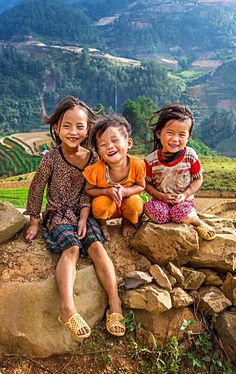 The Laughter and Smiles of 3 Precious Little Girls in Vietnam.