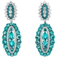 Chopard earrings from the Temtations collection ~ Set with green beryls and diamonds