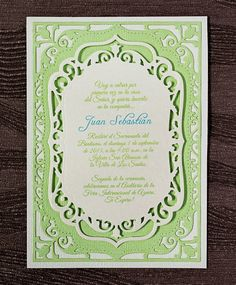 Invitaciones de Bautizo  Juan Sebastian