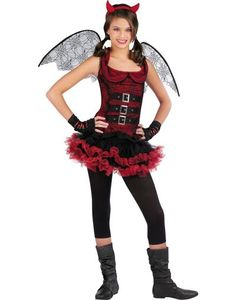 Girls Night Wing Devil Costume - Party City