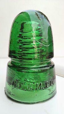 CD145 Beautiful Yellow Green NEGM beehive glass insulator
