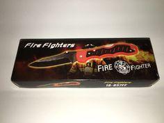 "4 1 2"" Lockback Knife Fire Fighter Red with Logo | eBay"