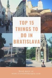 top 15 things to do in Bratislava Slovakia Travel Vacation List Holiday Tour Trip Destinations Beautiful Places To Visit, Cool Places To Visit, Places To Travel, Europe Travel Guide, Travel Guides, Travel Hacks, Budget Travel, Amazing Destinations, Travel Destinations