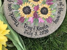 Personalized Wedding Garden Stone Gifts for Parents with ANY FLOWERS names, titles and dates! Wedding Gifts For Parents, Bride And Groom Gifts, Flower Names, Garden Boxes, Parent Gifts, Mother Gifts, Personalized Wedding, Mother Of The Bride, Red Roses
