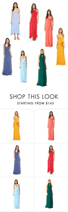 """Rainbow collection"" by jamuna-kaalla ❤ liked on Polyvore featuring Michelle Mason, Badgley Mischka, Joanna August, Blue Life, Keepsake the Label and Bobi"
