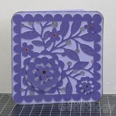 ScrapbookPal.com: Purple Filigree Card- Cindy Loo Cartridge