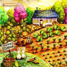 Romantic Country Coloring Book By Eriy, Book one