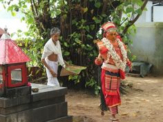 The Arrival of the Theyyam, Tellicherry, Kerala, India
