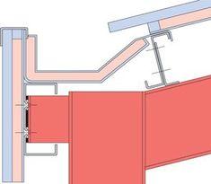 Concealed Eaves Gutter - Detail at column: