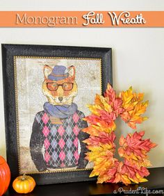 Seasonal decor doesn't need to be expensive or elaborate. This fall monogram wreath came together in 15 minutes for under $5!